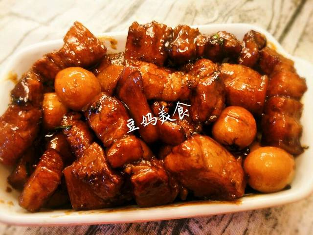 补发昨日小炒_鹌鹑蛋红烧肉、鱿鱼早餐火山石v小炒荷塘图片